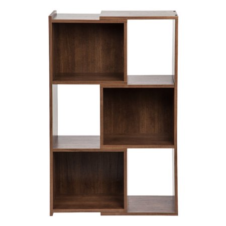 Iris 30 Inch Wide Expandable Bookcase Dark Brown