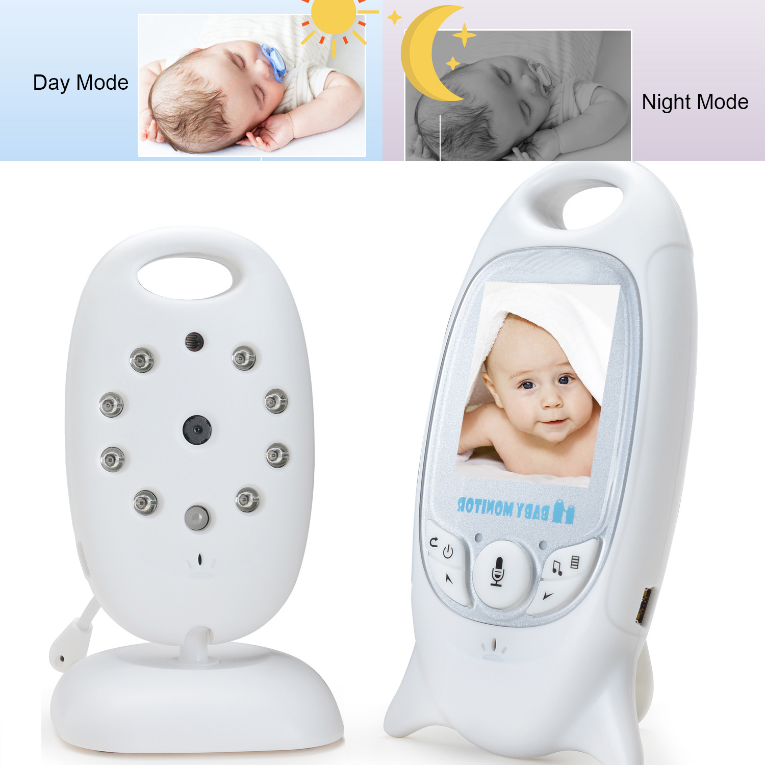 Baby Monitor Video Baby Infant Monitor Wireless Digital Camera with Night Vision Two Way Talk Long Range on sale