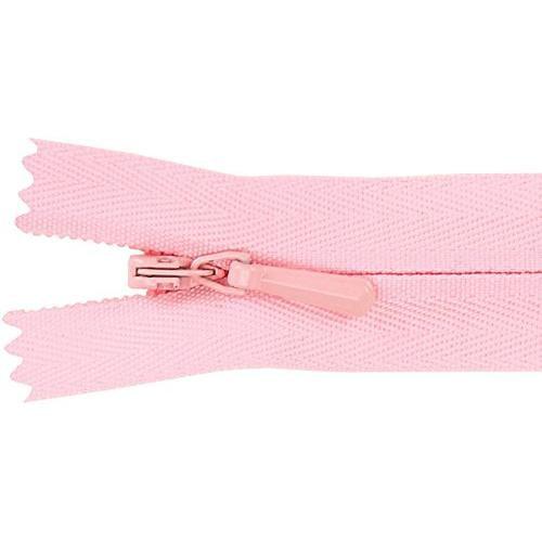 Unique Invisible Zipper 14 Inch -Pink Multi-Colored