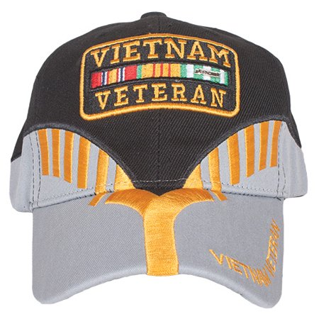 - Embroidered Ball Cap Black/Grey Heritage - Vietnam Vet - Outdoor
