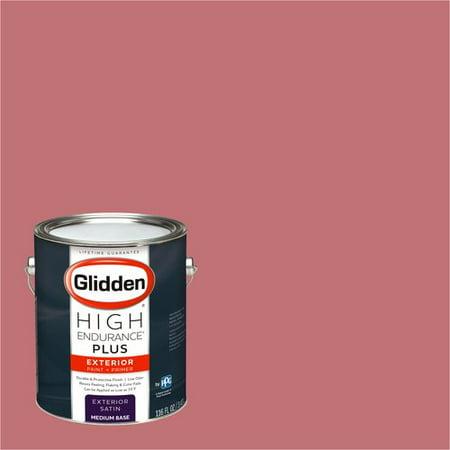 Glidden High Endurance Plus Exterior Paint and Primer, Lipstick, #90RR 28/359