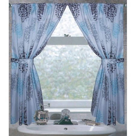 Royal Bath Isabelle 100% Polyester Fabric Window Curtain With Two Tie Backs, Size 54X34