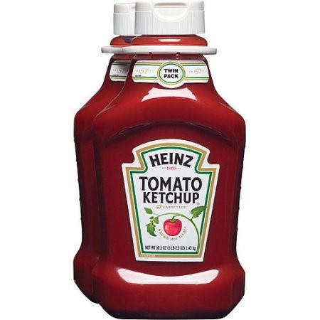 Heinz Tomato Ketchup Bottle, 50 oz, Pack of 2, 101 oz