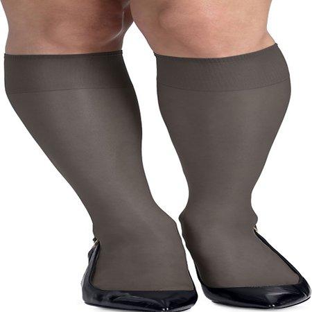 118d29ece2a Hanes - Hanes Womens Silk Reflections Silky Sheer Knee Highs 2-Pack ...