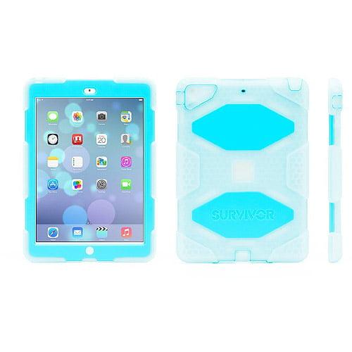 Griffin Technology Survivor Case for Apple iPad Air - Clear/Blue