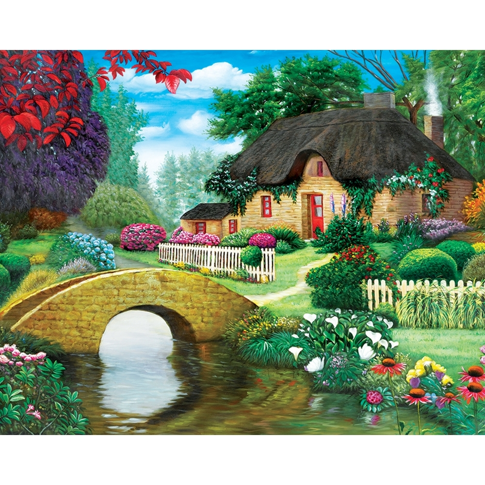 Storybook Cottage 500 Piece Puzzle