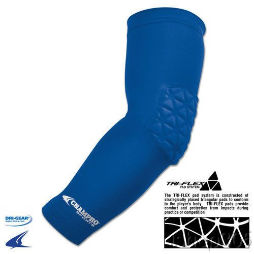 Champro Arm Sleeve With Elbow Padding (Royal, Junior Varsity)
