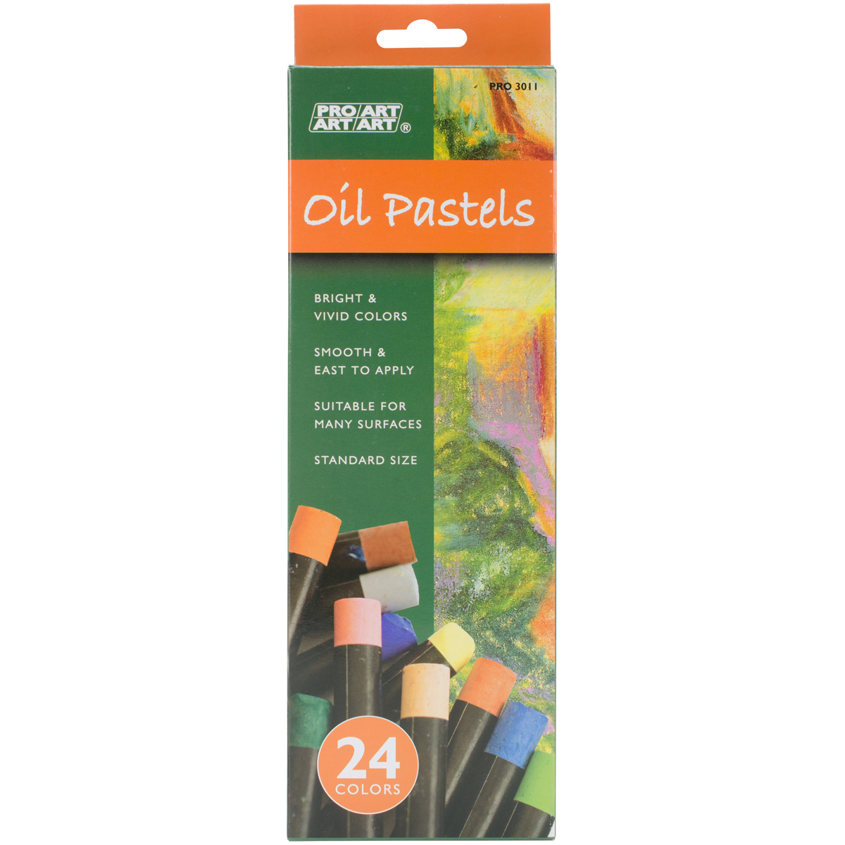 Pro Art Oil Pastels 24/Pkg-Assorted Colors