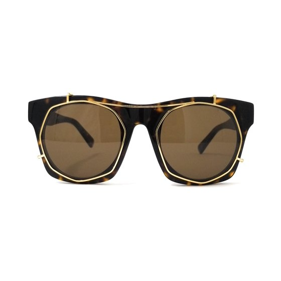 b486f854d0 Mcm - MCM Sunglasses MCM605SA 213 Havana-Shiny Gold Rectangular ...