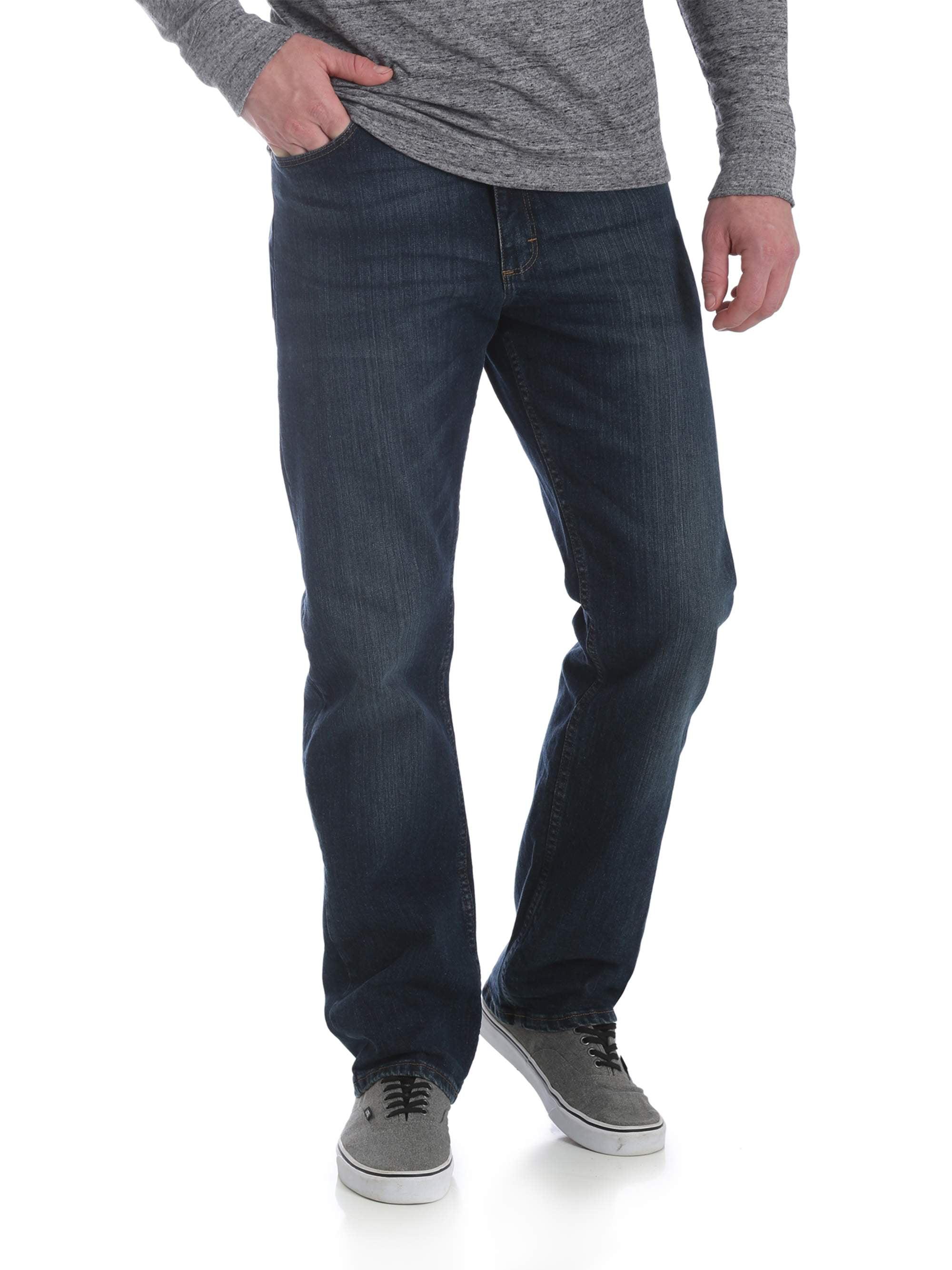 NEW Wrangler Men/'s Slim Straight Leg Denim Flex For Comfort Jeans Blue Color