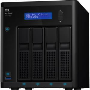 WD 8TB My Cloud PR4100 Pro Series Media Server with Transcoding, NAS - Network Attached Storage - Intel Pentium N3710 Quad-core (4 Core) 1.60 GHz - 4 x Total Bays - 8 TB HDD - 4 GB RAM DDR3L SDRA