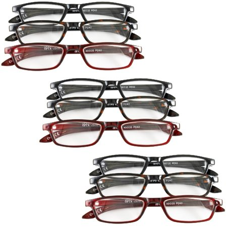 834a5953b696 (Set of 9) Magnifying Reading Glasses +3.5   4.0   4.5 Unisex Half Eye  Style - Walmart.com