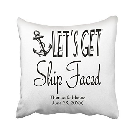WinHome Square Throw Pillow Covers Lets Get Ship Faced Customized Magnificent Customized Pillow Covers