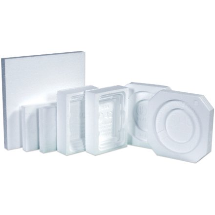 HAZ1063 White Expanded Polystyrene 1 - 1 Gallon Plastic Jug Foam Insert Packaging Supplies Made In USA CASE OF 48