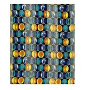 2Chique Boutique Women's Navy Blue Circle Pattern Satin Stripe Scarf