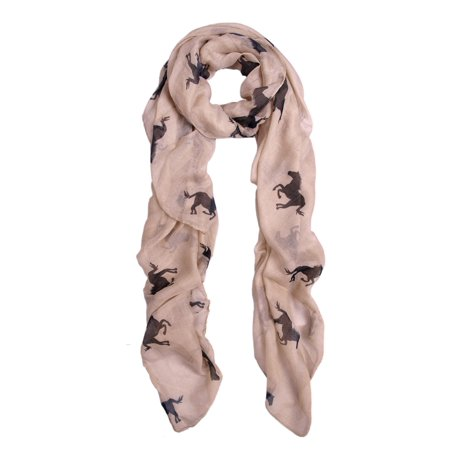 Premium Stallion Horses Animal Print - Horse Riding Scarf