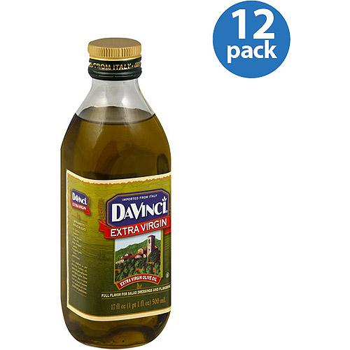 DaVinci Extra Virgin Olive Oil, 16.9 fl oz, (Pack of 12)