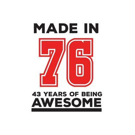 Made In 76 43 Years Of Being Awesome : Made In 76 43 Years Of Awesomeness Notebook - Happy 43rd Birthday Being Awesome Anniversary Gift Idea For 1976 Young Kid Boy or Girl! Doodle Diary Book From Dad Mom To Forty Three Year Old Son (Gift Ideas For Autistic 3 Year Old)