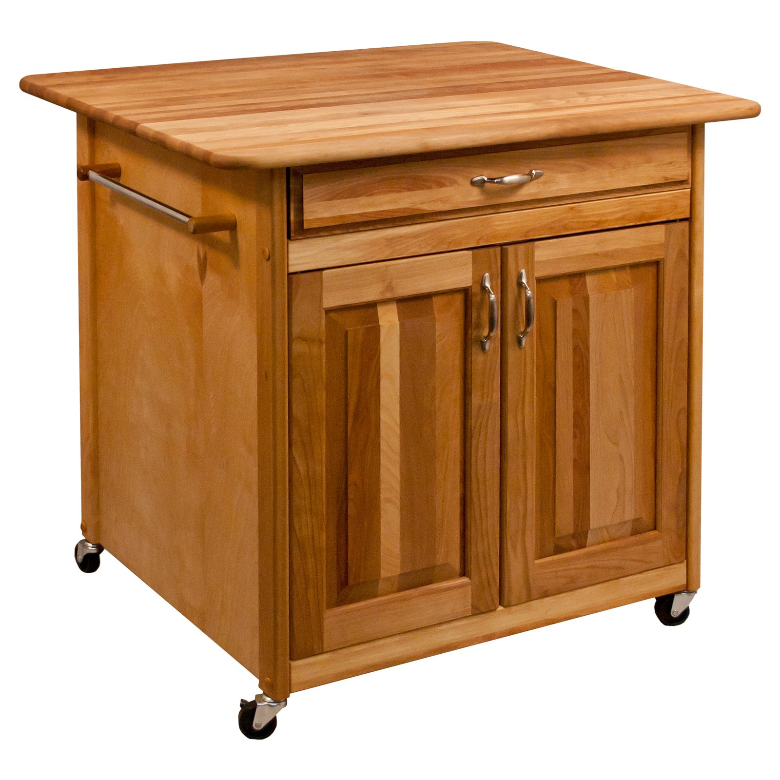 Catskill Craftsmen The Big Work Center with Solid Back Kitchen Island