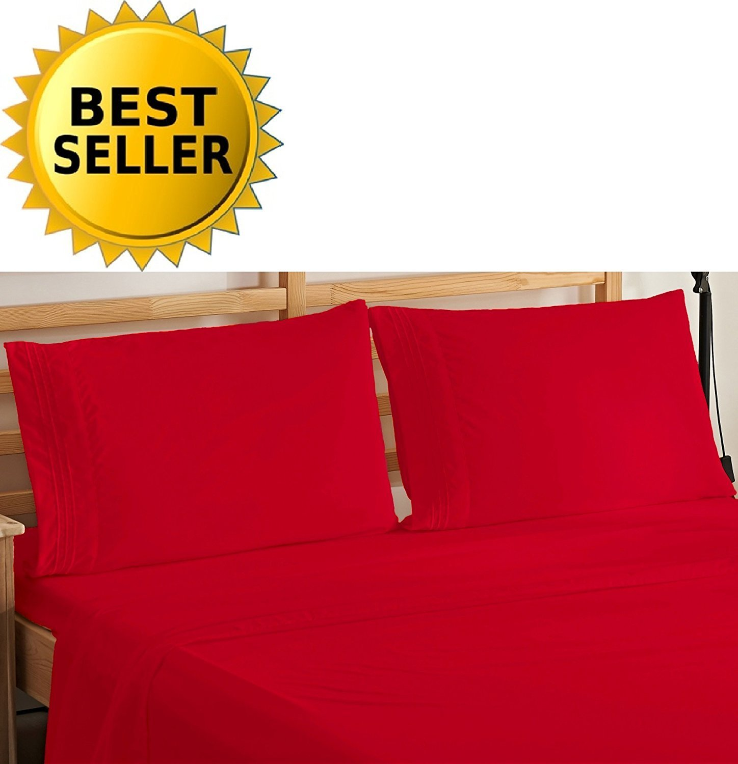 Egyptian Comfort 4 Piece Deep Pocket Bed Sheet Set Hypoallergenic Wrinkle Free