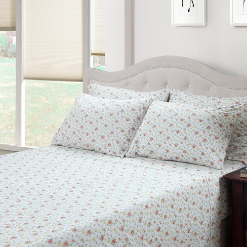 214 West Ditsy Floral Jenna 300 Thread Count Cotton 3 Piece Sheet Set