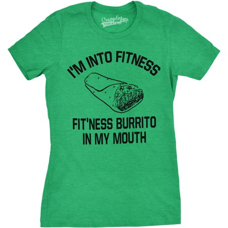 cc7ba8665 Crazy Dog Funny T-Shirts - Womens Fitness Burrito Funny Gym T shirts  Sarcasm Mens Humorous T shirt Novelty Tees - Walmart.com