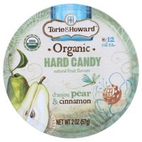 Torie & Howard Hard Candy, Pear & Cinnamon, 2 Oz, Pack Of 8
