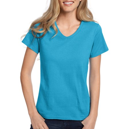 Women's Comfort Soft Short Sleeve V-neck Tee