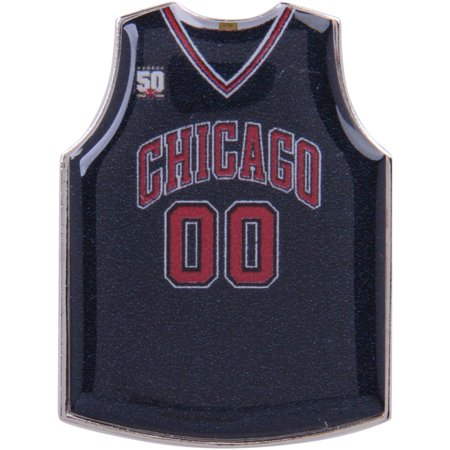 Chicago Bulls Road Jersey Pin - Red - No (Jersey Style Pin)