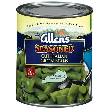 (6 Pack) Allens Cut Italian Seasoned Kentucky Wonder Style Green Beans, 28