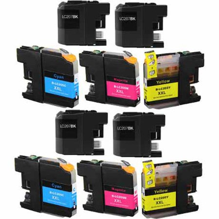 Classic Inkjet - Universal Inkjet Compatible Multipack for Brother LC207/LC205, 10-Pack
