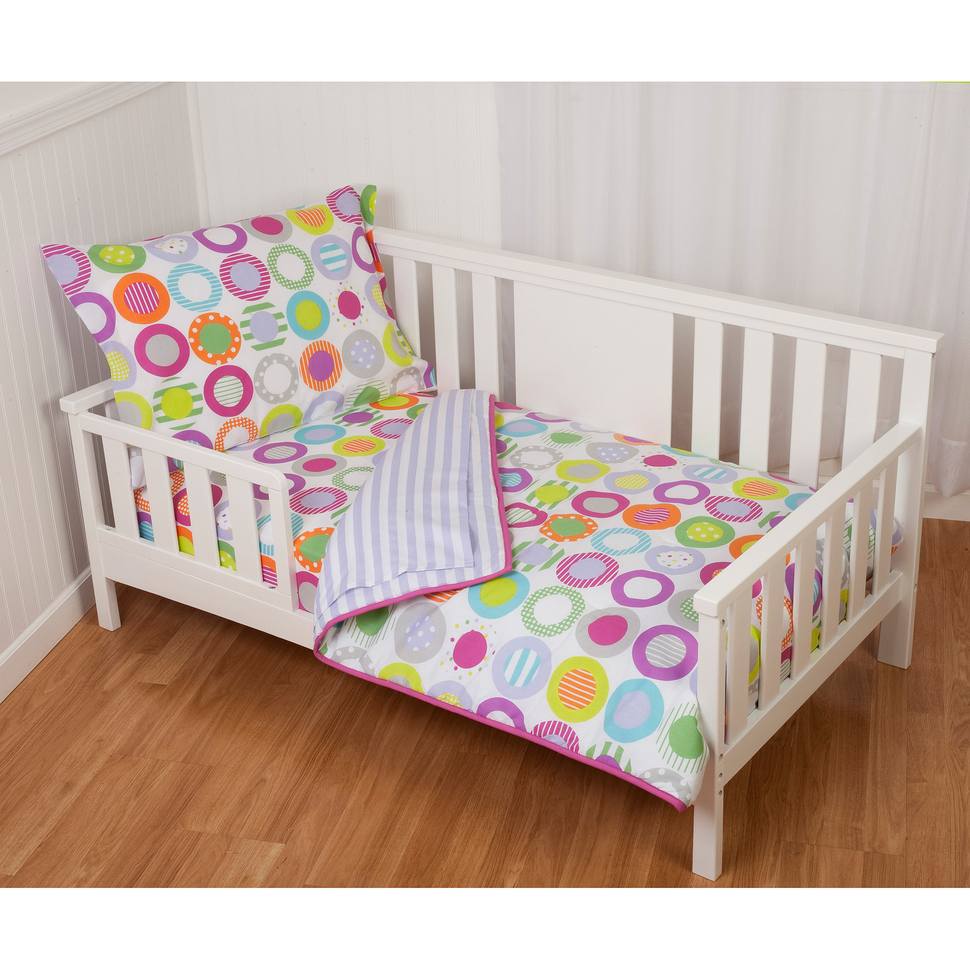 Sumersault Circle Dots 4-Piece Toddler Bedding Set by Sumersault