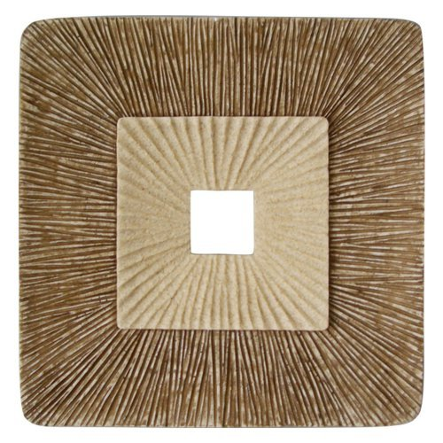 Square Concave Ribbed Plaque Wall Art - Set of 2