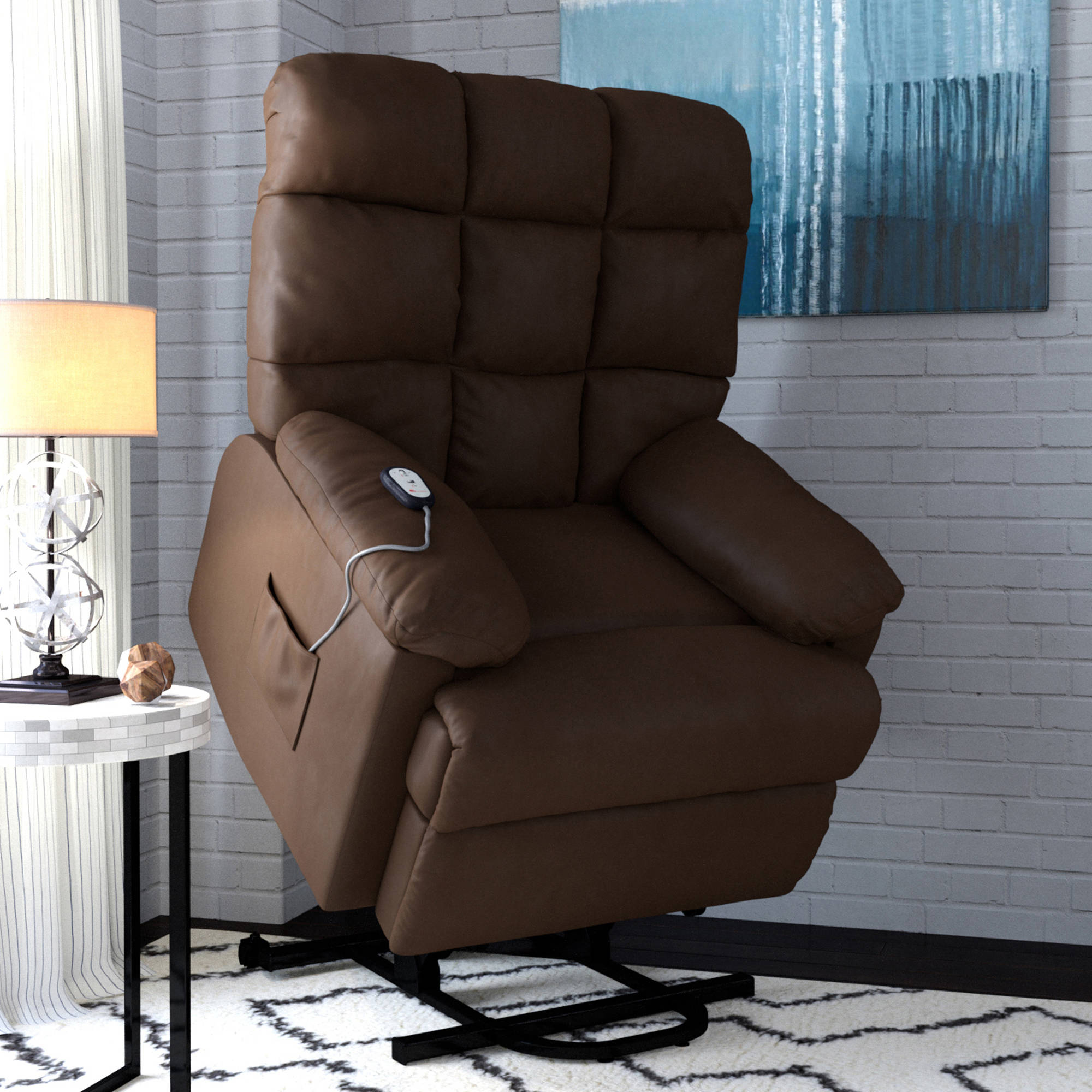 ProLounger Power Recliner and Lift Wall Hugger Chair in Microfiber