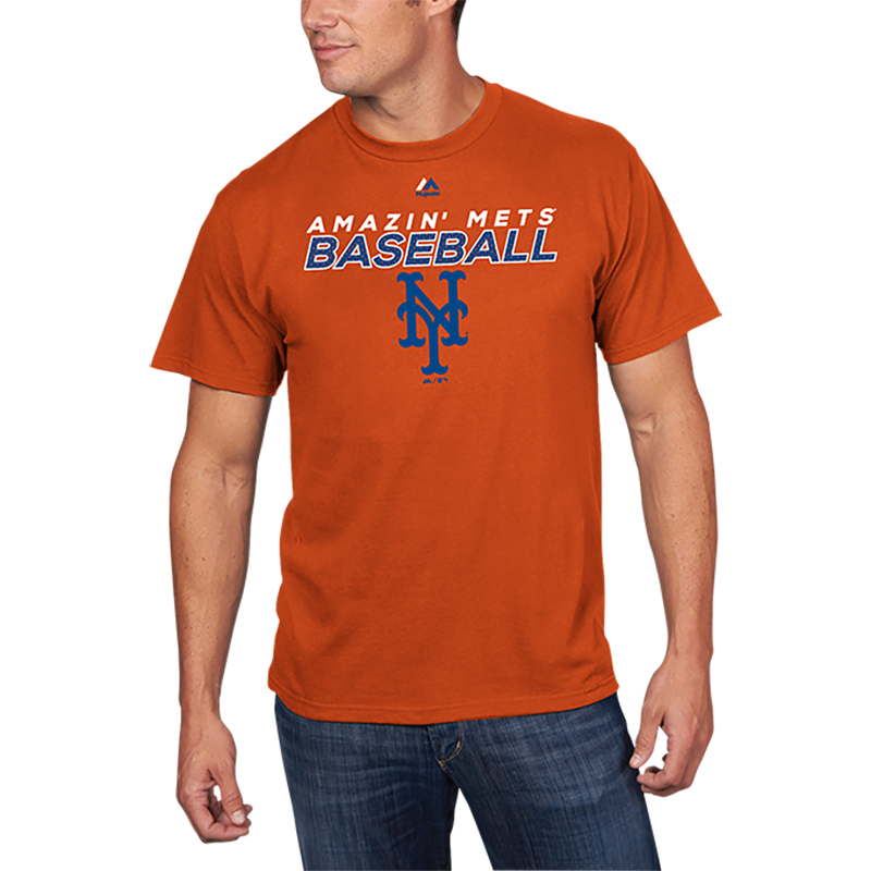 New York Mets Majestic Bring the Battle T-Shirt - Orange