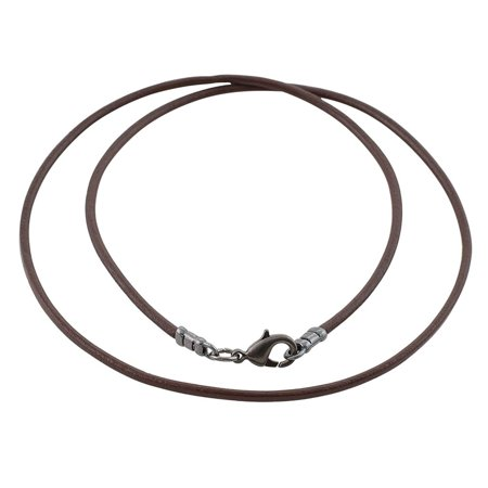 Gunmetal 1.8mm Fine Brown Leather Cord Necklace Brown Satin Necklace Cord