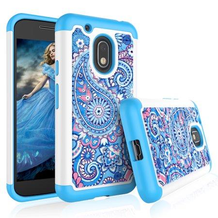 Moto G4 Play Case, Moto G4 Play Cute Case, Tekcoo [Tmajor] Retro Pattern Lovely Bling Crystal Studded Rhinestone Rubber Plastic Bumper Cases Cover For Motorola Moto G Play ()