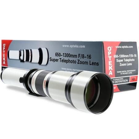 Opteka 650-1300mm Super Zoom Lens for Panasonic Lumix DMC-GM5, GF7, G7, GX8, GX80, GX85, GX7 Mark II, GH5, GX850, G9, GH5S, GX9, G90, GH4, GH1, GF1, G10, GH2, GF2, GF3, GX1, GF5, G5, GH3, GF6, G6,