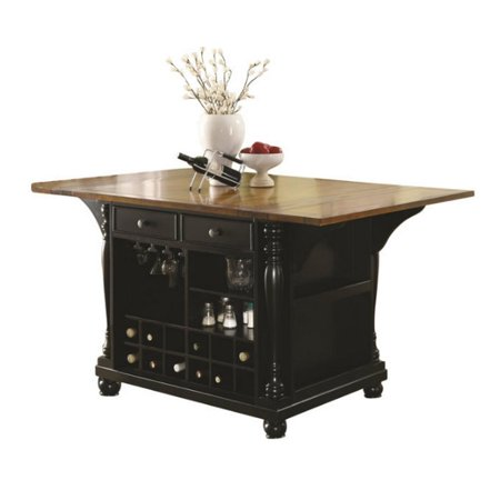 Coaster Kitchen Carts Two Tone Island With Drop Leaves