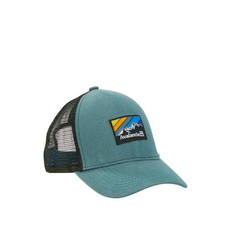 Men's Woven Label Patch EMB Edge Uncle Trucker Hat Paisley Woven Hat
