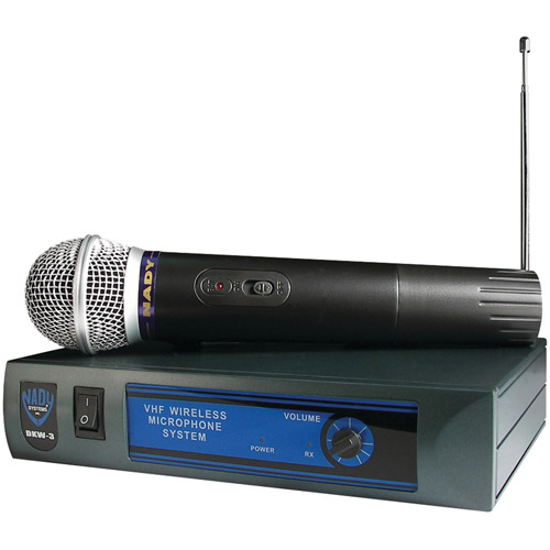 Nady DKW-3 HT B 185.150 Mhz Handheld Wireless Cardioid Dynamic Microphone by Nady