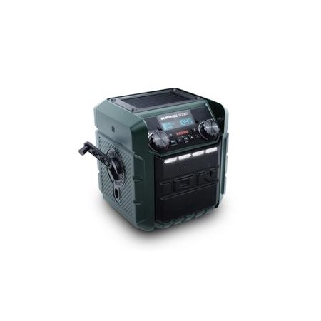 Ion Audio iPA95 Survival Scout Solar-Charging Emergency Weather Radio with Powerful Sound and Bluetooth Speaker