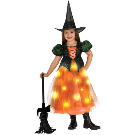 Toddler Witch Costume Uk (Twinkle Witch Light-Up Child Halloween)