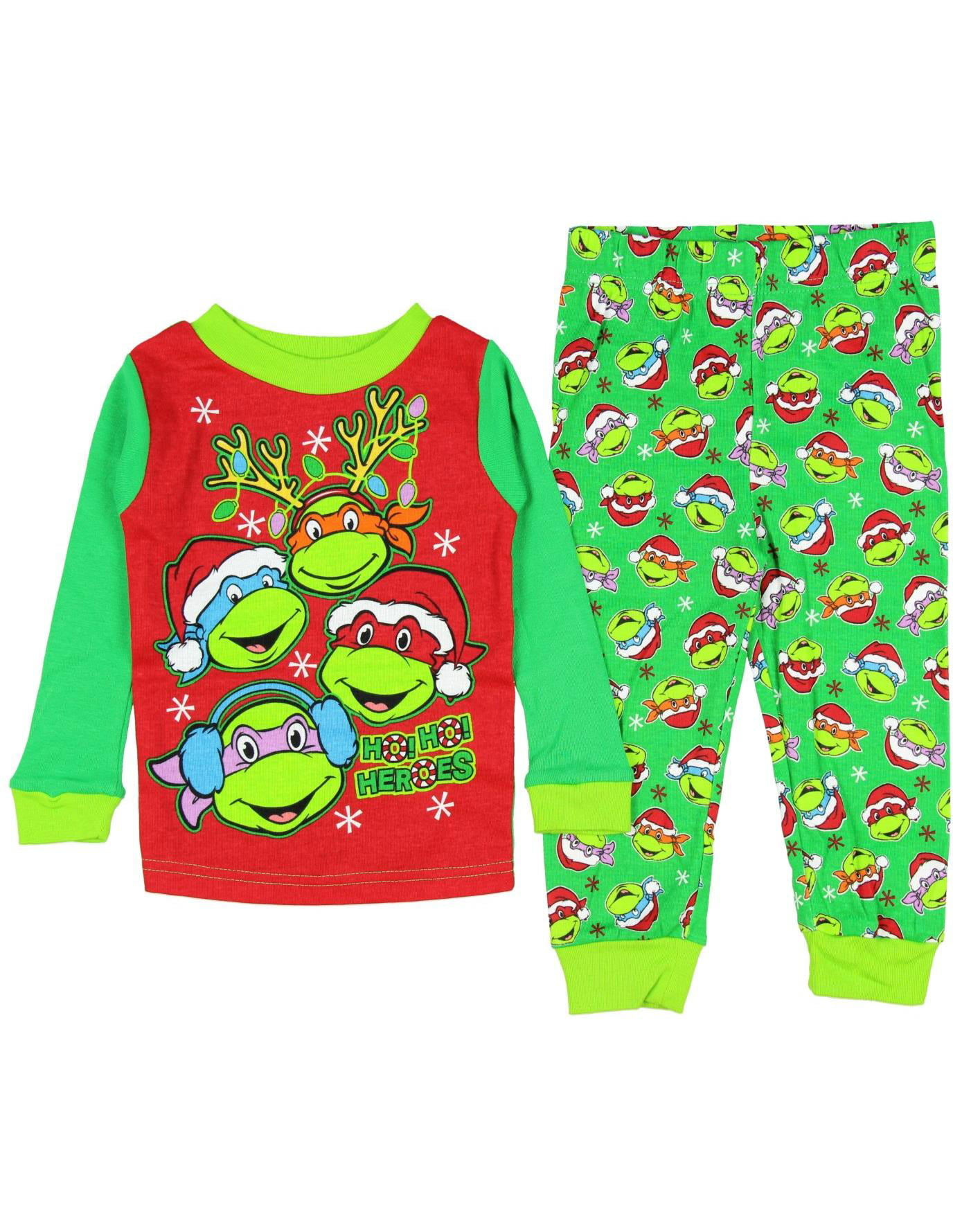 Teenage Mutant Ninja Turtles Little Boys\' Christmas Pajama Sleepwear Set