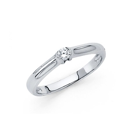 e868b958f7721 GemApex - 14k Yellow OR White Gold Small CZ Engagement Ring ...