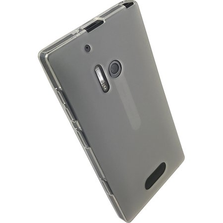 Matte Frost Combs - Lumia 928 Case, See-Thru Frosted White Clear Matte TPU Flexible Skin Cover for Verizon Nokia Lumia 928