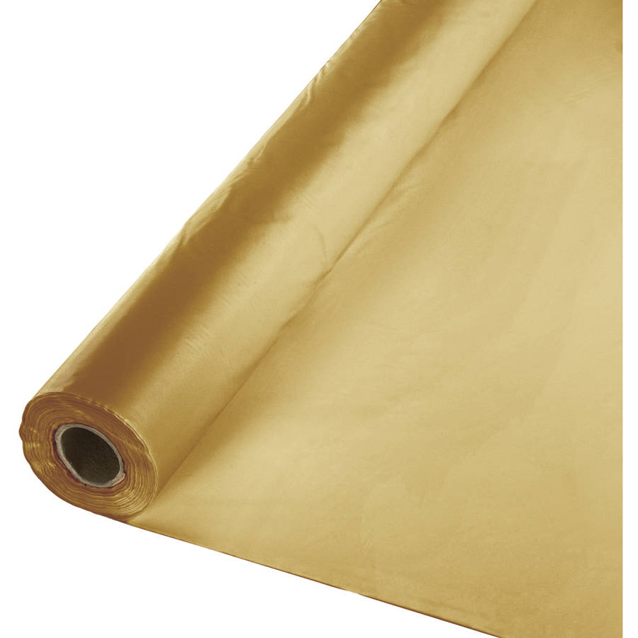 Glittering Gold Banquet Table Roll