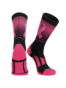 8a50488a13b Product Image TCK Stripes Aware Dye Sub Breast Cancer Basketball Football  Crew Sock