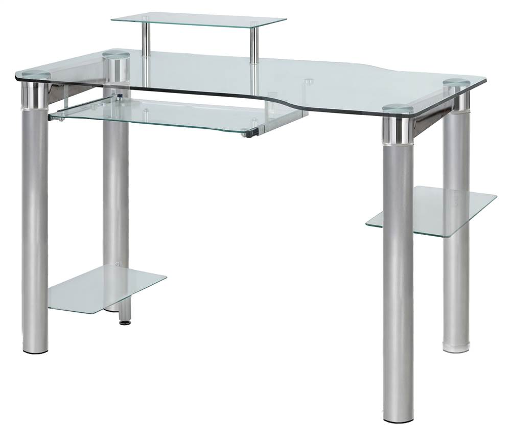Innovex Saturn Clear Glass PC Computer Desk by Innovex