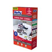 Hefty SHRINK-PAK 1 Medium Bag, 1 Large Bag, 1 Jumbo Bag, & 1 Large Travel Bag